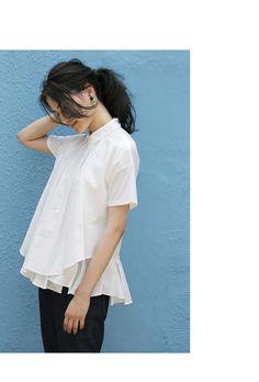 【Deformity blouse】レディース 変形 フレア ブラウス