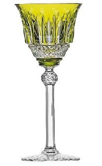 Saint Louis Crystal Tommy Hock Wine: Yellow