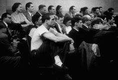 A 30 year-old Paul Newman in white socks at the Actors Studio, New York City, 1955. Newman arrived in NYC in 1951 and made his debut on Broadway in 1953 but was still breaking into film and television. Every Tuesday and Friday, Newman showed up at the Actors Studio in Greenwich Village for class, impressed by the creative diversity he found there.