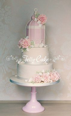 Pink Birdcage Wedding Cake | Flickr - Photo Sharing!