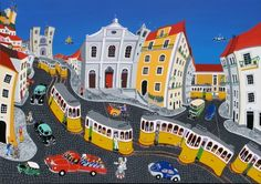 Portugal, Art Plastique, Folk Art, Transportation, Photos, Urban, Humor, House Styles, Trains
