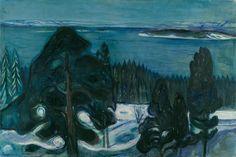 Edvard Munch, Winter Night (Winternacht), 1900, Kunsthaus Zürich.