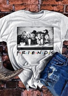 Halloween Horror Movie Friends T-Shirt Tee! I'm reaching out to all my Horror Movie Friends in a world full of Basic Witches be a Friends shirt, family and all you prayer warriors who believe in the power. Halloween Shirt, Halloween Outfits, Halloween Clothes, Halloween Accessories, Halloween Window, Halloween Stuff, Halloween Party, Halloween Costumes, Home T Shirts