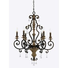 Quoizel 'Marquette' 6-light Chandelier | Overstock.com Shopping - Great Deals on Quoizel Chandeliers & Pendants