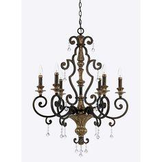 Quoizel 'Marquette' 6-light Chandelier | Overstock.com Shopping - Great Deals on Quoizel Chandeliers & Pendants