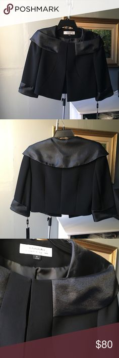 Tahari black blazer NWT Tahari black organza cropped blazer Tahari Jackets & Coats Blazers