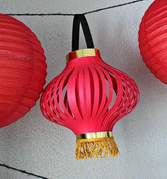 How to Make Chinese Lanterns | Chinese Lantern Printable
