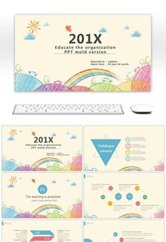 PPT Courseware For Children's Primary School Education In Colorful Cartoon Kindergartens Primary School Education, Web Design, Graphic Design, Powerpoint Slide Designs, Powerpoint Background Design, Powerpoint Design Templates, Presentation Layout, Print Layout, Video Games For Kids