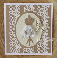 tonic punch intrica cards | little lace and embossing - card from RUTH