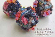 come fare perle dal tessuto - textile bead tutorial.