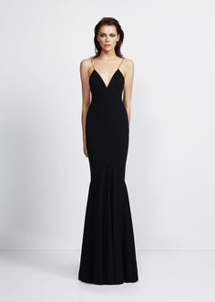 6d737cb5ca7 Alex Perry  Cruise 2014. Plunging v neck black gown. Alex Perry