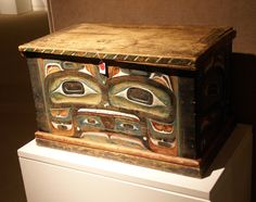 Lot 68, Kwakiutl Painted and Carved Wood Chest, 15 1/2 inches high and 16 1/2 inches wide Lot 68 is a quite magnificently colored and carved Kwakiutl wood chest that is 15 1/2 inches high. It has a modest estimate of $25,000 to $35,000. Sotheby's May 20, 2009