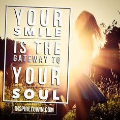 Make a deliberate effort to smile more than once today! By smiling you give yourself freedom to be happy and others around you permission to do the same! Smiling is nourishment to the soul!!! Try Smiling Today!  InspireToWin.com