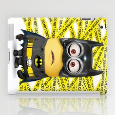 Despicable Me Minion Batman The Dark Knight Behind Police Line IPad Case By Pointsalestore