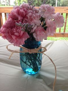 baby shower decorations with mason jars | via ryan n heather sheckels