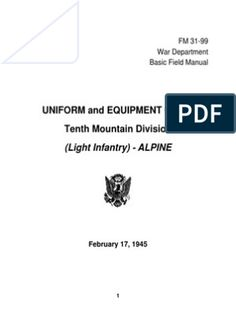FM31-99 Uniform & Equipment Guide American War, Men