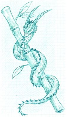 Little Dragon by Dokuro on DeviantArt - Kunst - Art Sketches Art Drawings Sketches, Cool Drawings, Tattoo Drawings, Fish Drawings, Fantasy Drawings, Creature Drawings, Animal Drawings, Dragon Tattoo Drawing, Cute Dragon Drawing