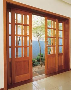 Sliding Glass Door Design Woods 30 Ideas For 2019 Wooden Patio Doors, Wooden Sliding Doors, Sliding French Doors, French Doors Patio, Sliding Glass Door, Glass Doors, Unique House Design, House Front Design, Main Door Design