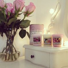 All Things Shabby and Beautiful: Photo My New Room, My Room, Cute Candles, Babe Cave, Just Girly Things, Girly Stuff, Roomspiration, Perfume, Scented Candles