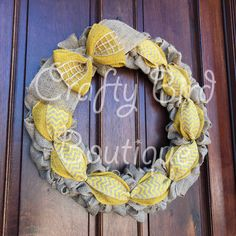 Just finished this spring wreath! craftybirdboutique.etsy.com