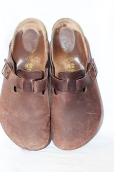 e337ba8ed7d5 Birkenstock Boston Brown Oiled Leather Clogs Mules Men s 44   US 11 Regular