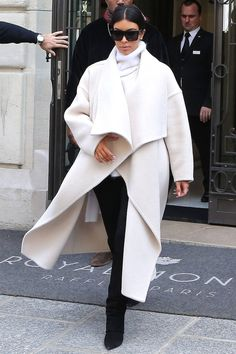 Kim Kardashian steps out at Paris Fashion Week in a luxe robe coat, get the look here: