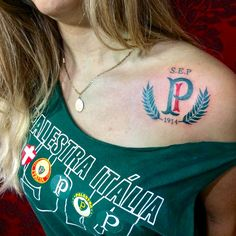 PALMEIRAS Love Tattoos, Tatoos, Watercolor Tattoo, Piercings, T Shirts For Women, F1, Tattoo Ideas, Anna, Mary