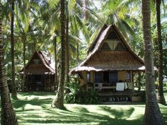 Philippine Travel Tips. The Philippines with its thousands of islands, friendly people, and unique Spanish and American influences is one of the more convenient travel destination Resorts In Philippines, Philippines Destinations, Siargao Philippines, Philippines Travel, Bahay Kubo Design, Siargao Island, Hut House, Sims, Tropical Architecture
