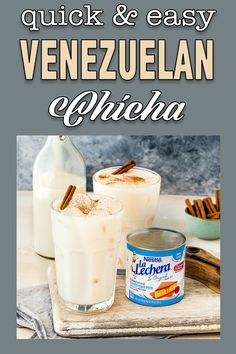 Easy Venezuelan Chicha using La Lechera. This Venezuelan Chicha is creamy, smooth, and super decadent! This refreshing and super easy to make drink will be enjoyed by everyone. #sposored #recipe #chicha #Venezuela #easy #quick #fromscratch #drink #homemade #best #simple #eggfree #eggless #eggallergy #foodallergy #allergyfriendly Venezuelan Food, Venezuelan Recipes, Cheap Meals, Easy Meals, Trifle Pudding, Good Food, Yummy Food, How To Make Drinks, Smoothie Recipes