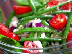 Green Bean Salad recipe from Jamie Deen via Food Network. Sounds similar to the La Bodega green beans I'm going to make. Green Bean Salads, Green Beans, Food Network Recipes, Cooking Recipes, Healthy Recipes, Protein Recipes, Side Recipes, Healthy Meals, Healthy Food