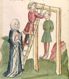 Historia septem sapientum, dt. ; Martinus Oppaviensis: Chronicon pontificum et imperatorum, dt. — Hagenau - Werkstatt Diebold Lauber,  um 1450 Cod. Pal. germ. 149 Folio 88r