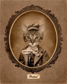 Image Vintage personnalisée de votre animal de par HotDigitalDog