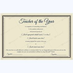 13 best teacher of the year award certificate templates images on best teacher of the year certificate teacheroftheyear teacherperformanceoftheyear teacher bestaward yelopaper