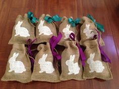 Made with Jute Bags from #pickyourplum #easter