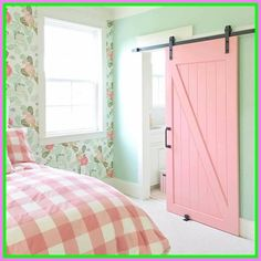 Need some sliding barn door inspiration? Check out our board of photos and examples, and see how you can use a barn door in your home. View our Ideabook now! Pink Princess Room, Princess Bedrooms, Trendy Bedroom, Modern Bedroom, Girls Bedroom, Fantasy Bedroom, Bedroom Doors, Teen Bedroom Door, Master Bedroom