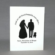 Dachshund Dog Wedding Cards. Pug, Labrador and Terrier Dogs also available.  Personalized Wedding Thank You Cards with Dog by doggydesign.