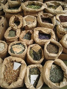 Flowers, herbs and spices. French farmers market, south of France. (mollshot/flickr) all rights reserved