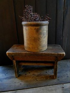 EARLY PRIMITIVE ANTIQUE OLD DRY WOODEN RISER STOOL SMALL BENCH AAFA