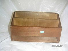 1 WOOD DESK RACK - has 4 Storage/Compartment Slots - other uses: ACCESSORY ORGANIZER, MAIL Bills Holder RACK, Craft Supplies Storage box [MsFrugaLady on ebay]