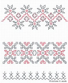 Blackwork Sampler- again, not knitting but I Love stitching black work Hand Embroidery Tutorial, Hand Work Embroidery, Hand Embroidery Stitches, Hand Embroidery Designs, Embroidery Techniques, Cross Stitch Embroidery, Cross Stitch Patterns, Kasuti Embroidery, Swedish Embroidery