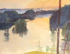 Albert Edelfels (Finnish, 1854-1905). Landscape, ca. 1889