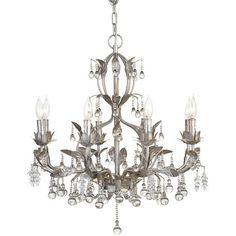 GIRLY CHANDELIERS LUSCIOUS LIGHTING WITH A FEMININE TOUCH! ($349) ❤ liked on Polyvore
