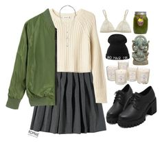 """#Romwe"" by credentovideos ❤ liked on Polyvore featuring French Toast, Monki, Tocca, La Perla and H&M"