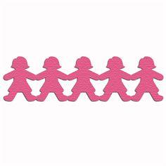 Silhouette Design Store - View Design #5802: paper doll border girls