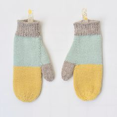 Adorable mittens, knit by Sarah McNeil.