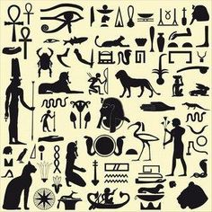 Ancient Egyptian tattoo ideas #outline Eye of Horus - Eye of Ra- Bastet - Pharaoh - cat - lion