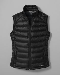 Women's Downlight® Stormdown® Vest | Eddie Bauer- Black, size medium