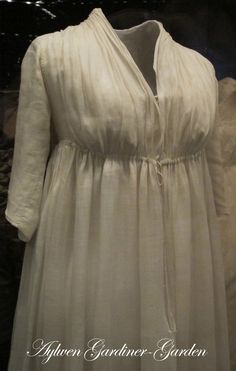 regency chemise pattern | History in my Wardrobe: My Tidens Tøj Regency Gown (updated)