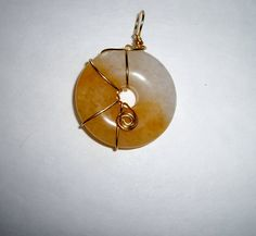 Butterscotch Agate Donut Wire Wrapped by BeautifullyUniquely