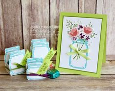 Stamp Your Art Out: Stamping Die Cuts with the Stamparatus Mason Jar Cards, Love Stamps, Treat Holder, Love Cards, Stamping Up, Paper Decorations, Creative Cards, Craft Items, Craft Fairs